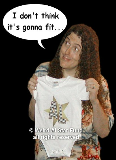 Weird Al with our merchandise